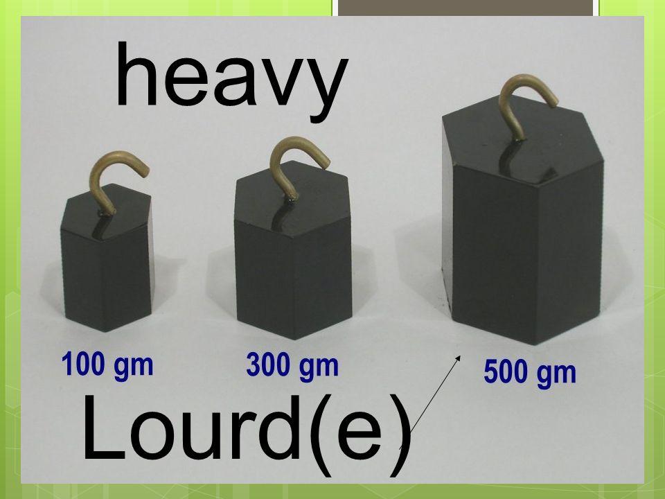 Lourd(e) heavy