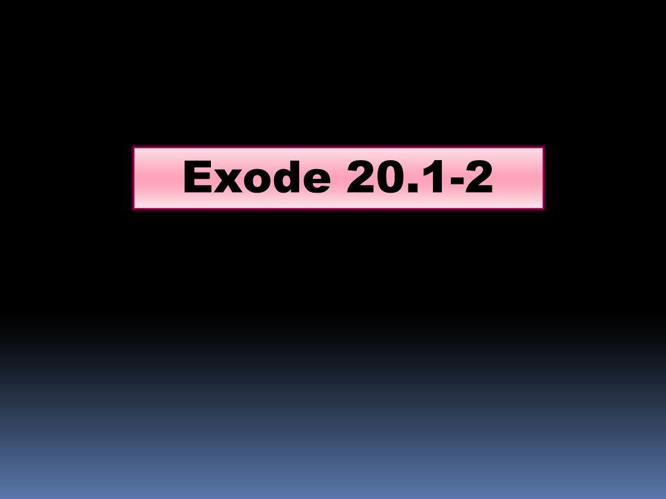 Exode 20.1-2