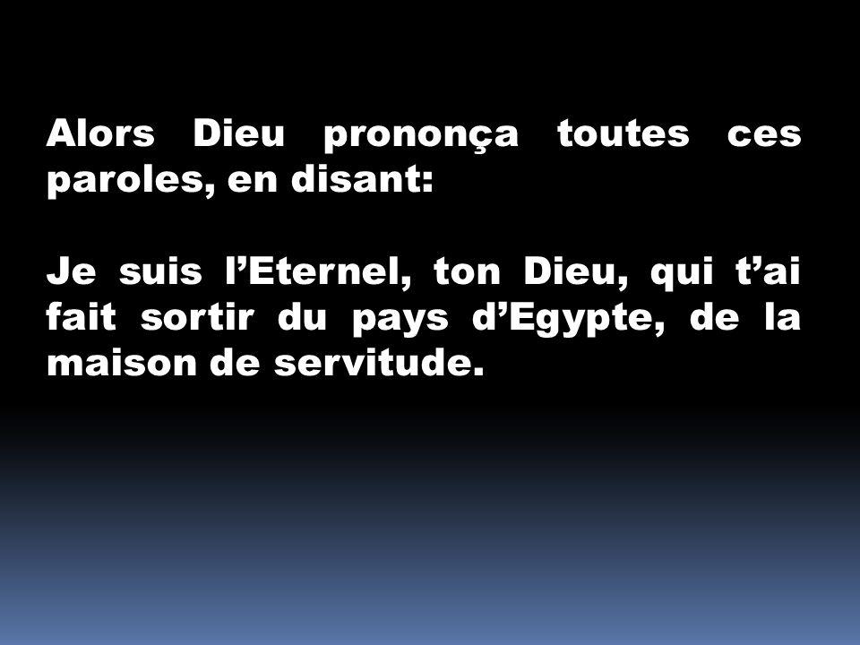 Dieu se présente: au peuple dIsraël au peuple dIsraël à tout homme qui entend la Parole