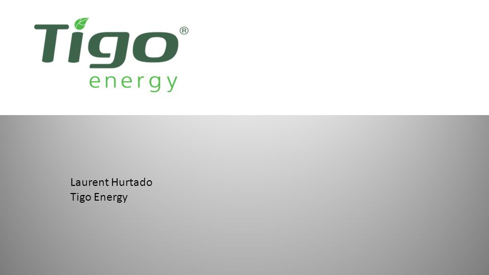 Laurent Hurtado Tigo Energy