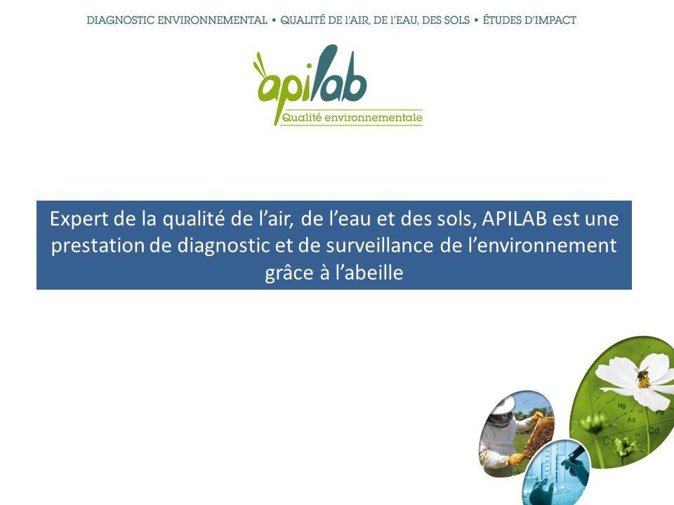 Expert de la qualité de lair, de leau et des sols, APILAB est une prestation de diagnostic et de surveillance de lenvironnement grâce à labeille