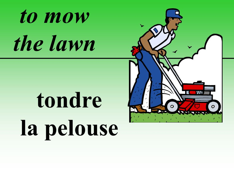 to mow the lawn tondre la pelouse