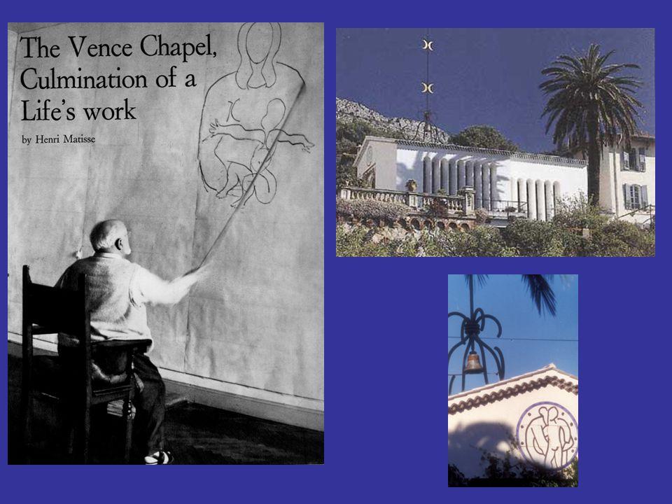 Le projet de construire une chapelle à Vence fut lancé par Soeur Jacques-Marie qui fut infirmière et le modèle de Matisse à partir de 1941 jusqu à ce qu elle rentre au couvent en 1943.