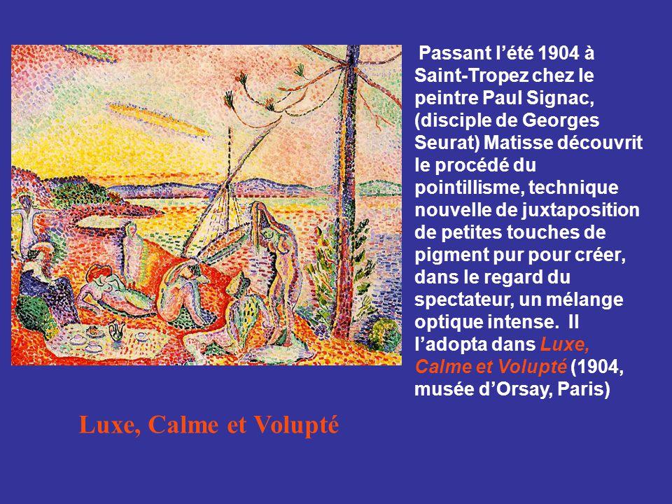 La Joie de Vivre 1905 L emploi des couleurs pures, sans recours aux dégradés, et un dessin linéaire excluant ombres est utilisé pour traiter un sujet sans précédent: celui d une composition inventée, mythologique, une scène pastorale.