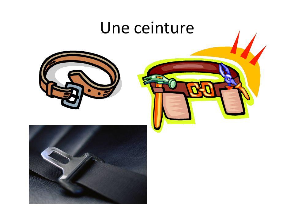 Une ceinture