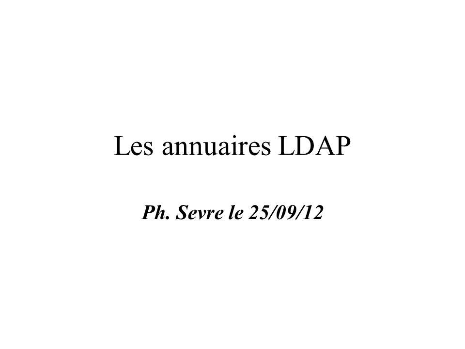 Les annuaires LDAP Ph. Sevre le 25/09/12