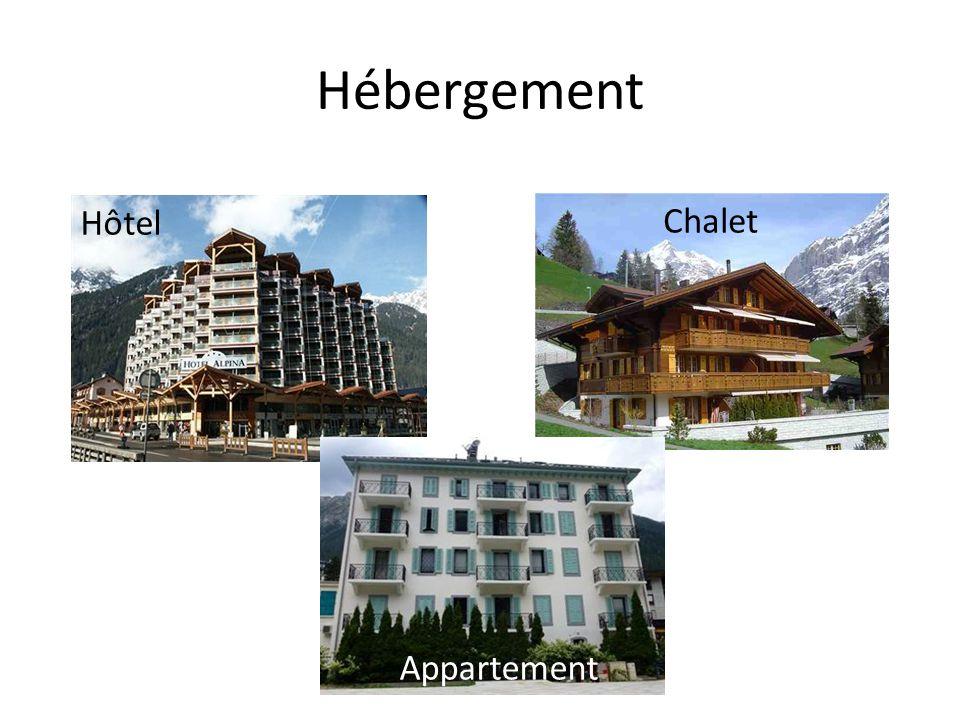Hébergement Hôtel Appartement Chalet