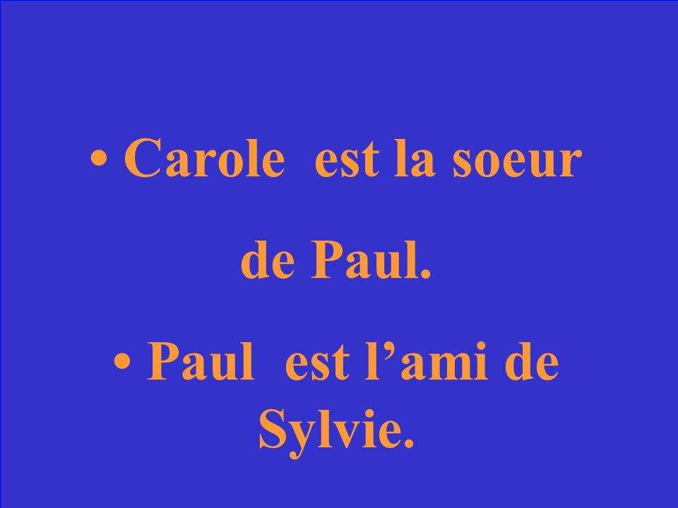 Carole Bouquet est la soeur ou lamie de Paul Bouquet.