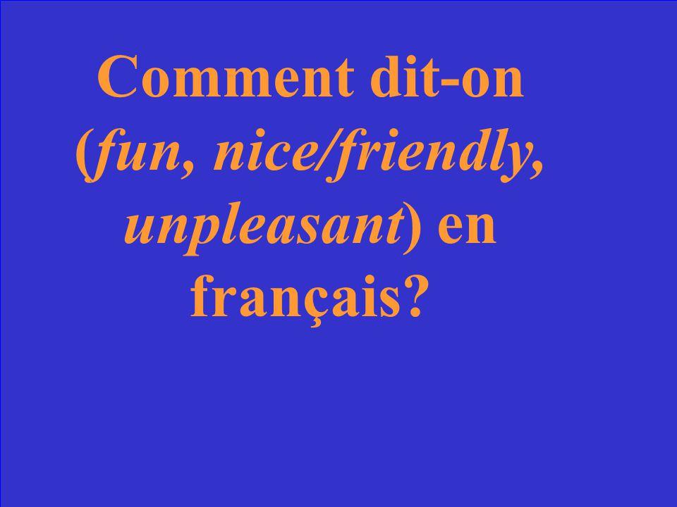 content (e) français (e) américain (e)