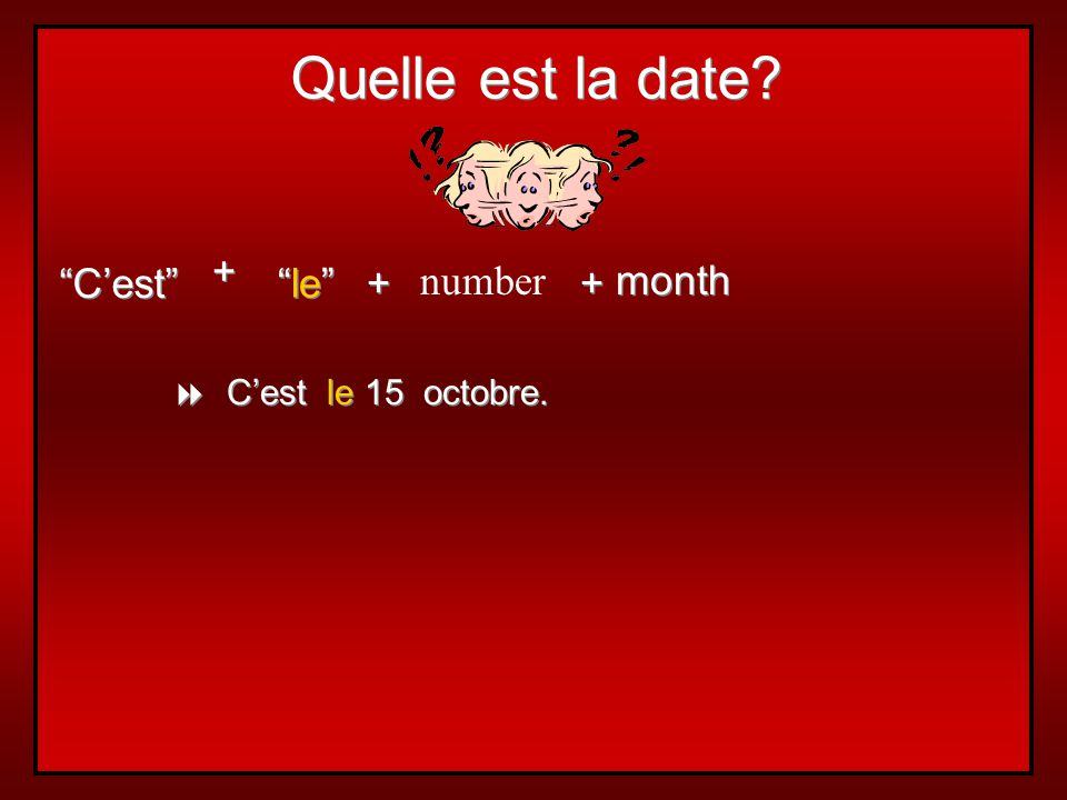 Les saisons et les mois… seasons and months are not capitalized in French articles are not used with months articles are used with seasons: le printem