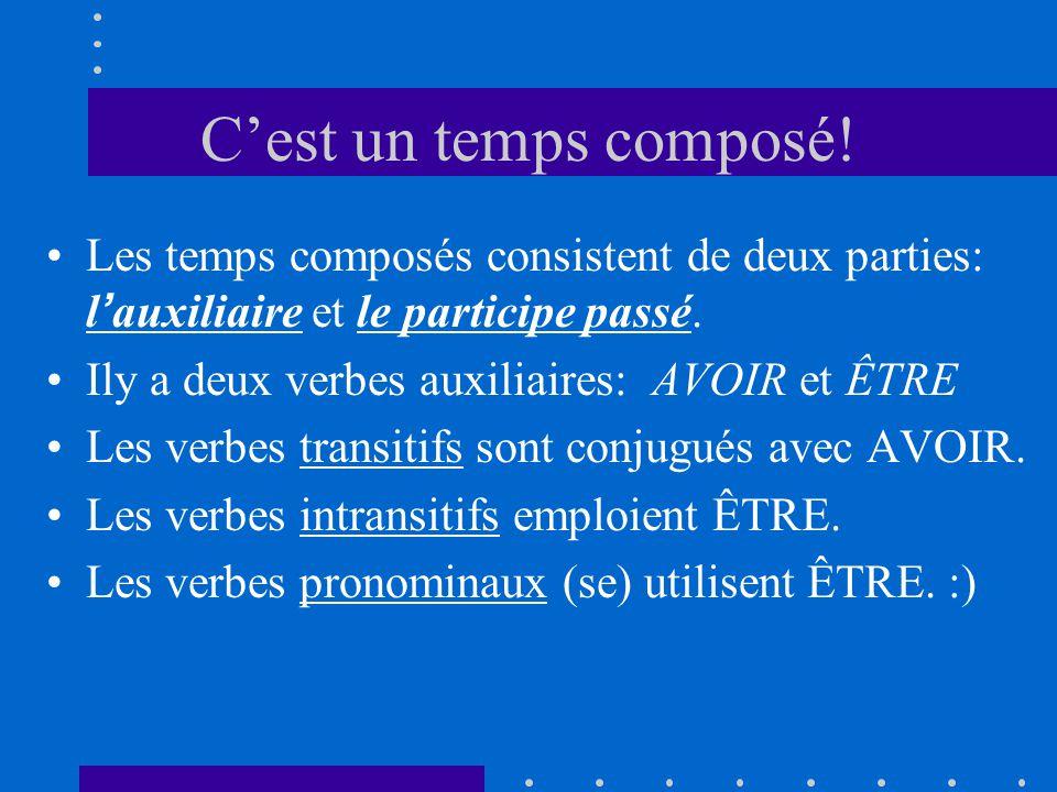 Laccord des participes passés Cest exactement comme le passé composé: 1.
