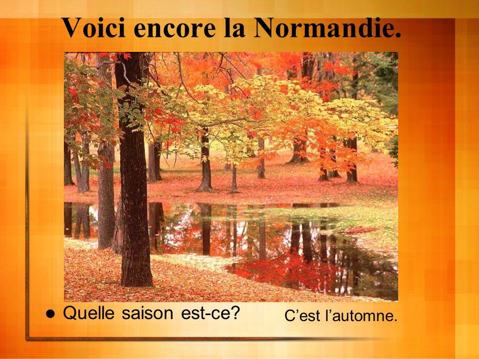 Voici encore la Normandie. Quelle saison est-ce? Cest lautomne.