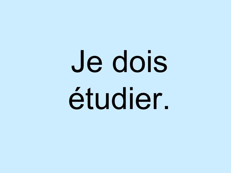 Je dois étudier.