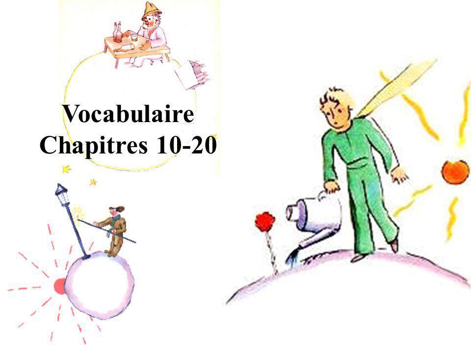 Vocabulaire Chapitres 10-20