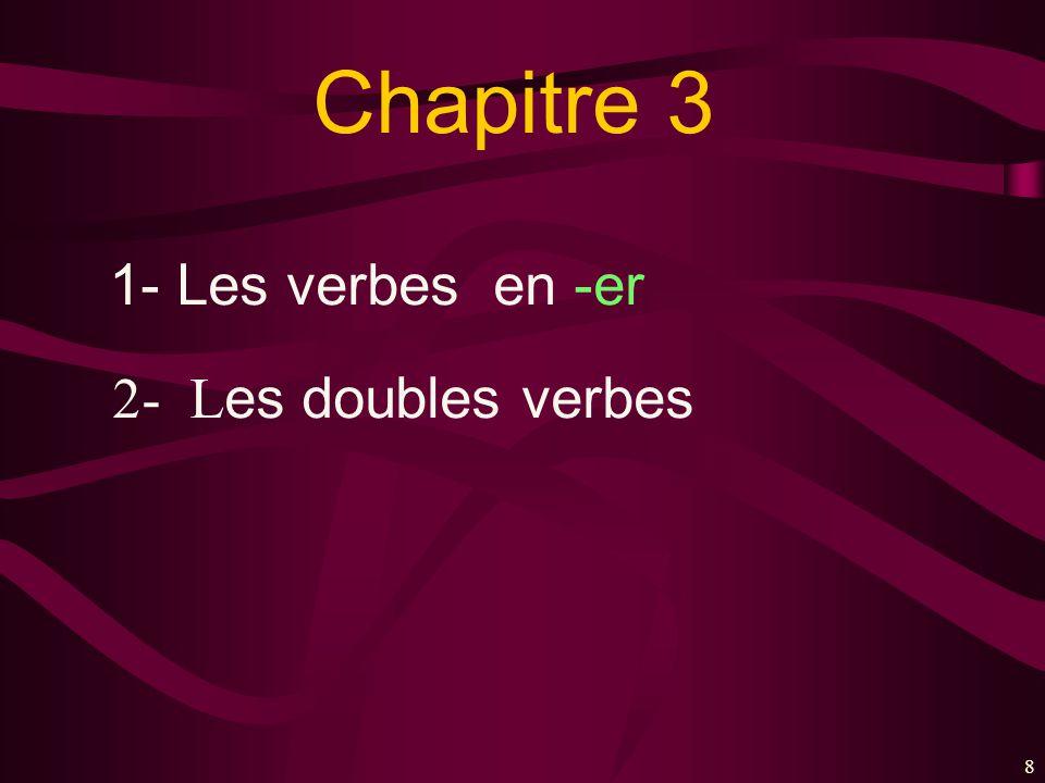 88 Chapitre 3 1- Les verbes en -er 2- L es doubles verbes