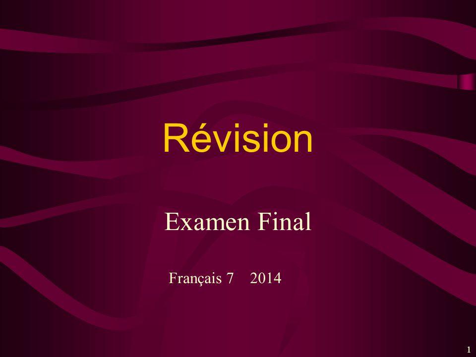 11 Examen Final Révision Français 7 2014