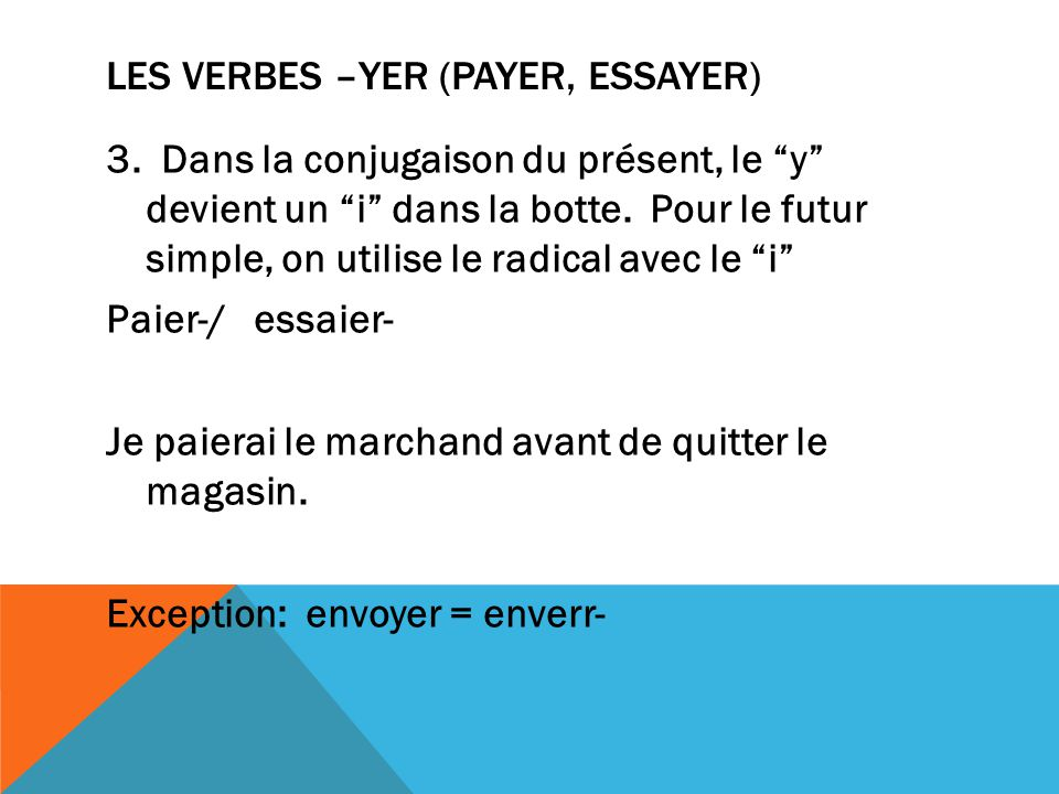 conjugations of essayer