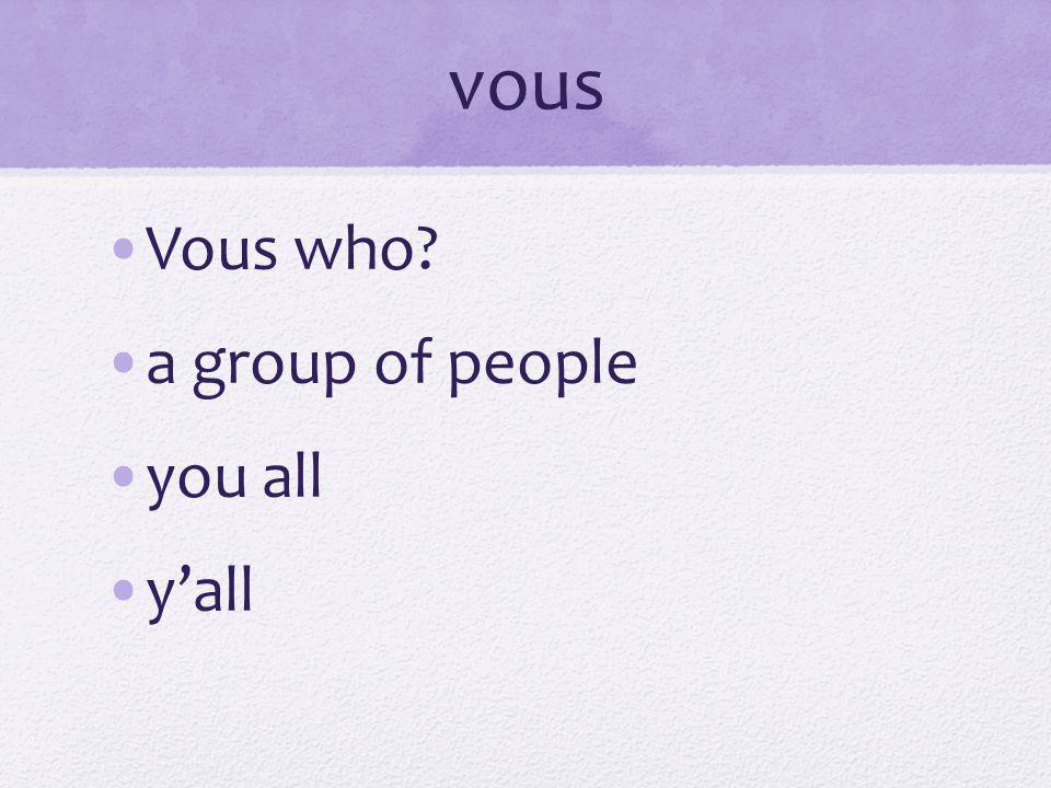 Tu vs.Vous We dont have this concept in English.