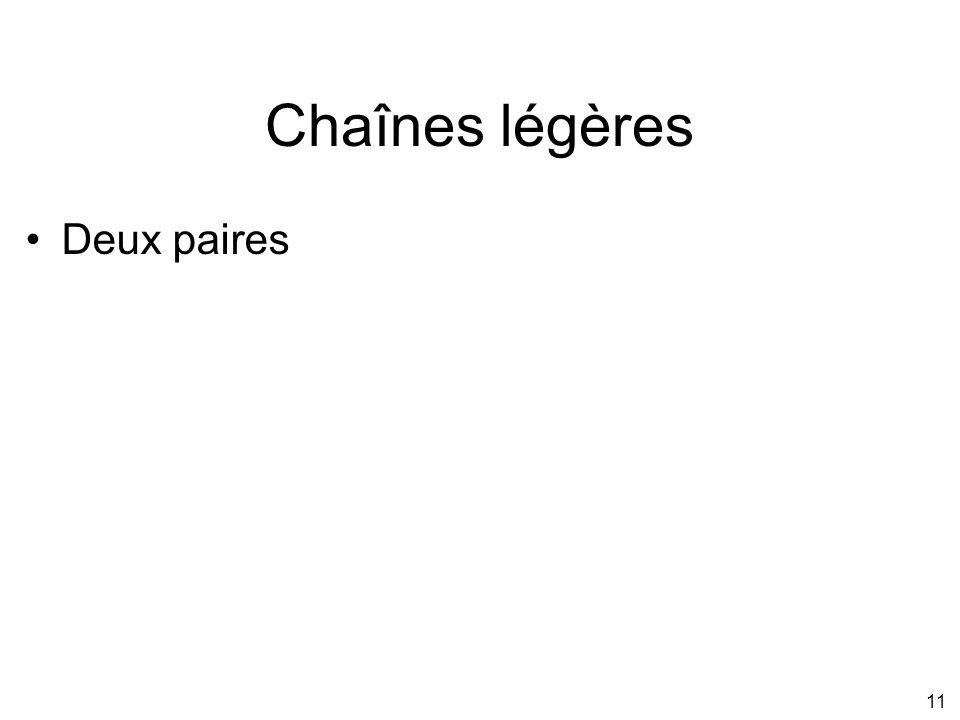 11 Chaînes légères Deux paires