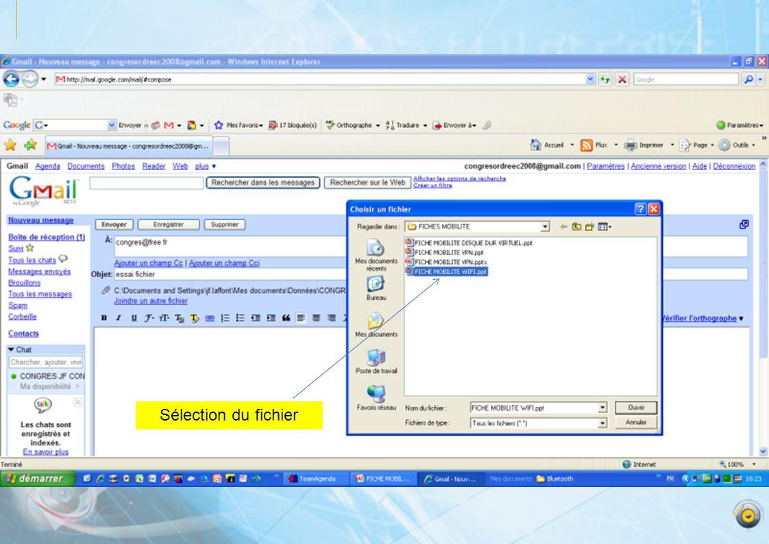 Sélection du fichier