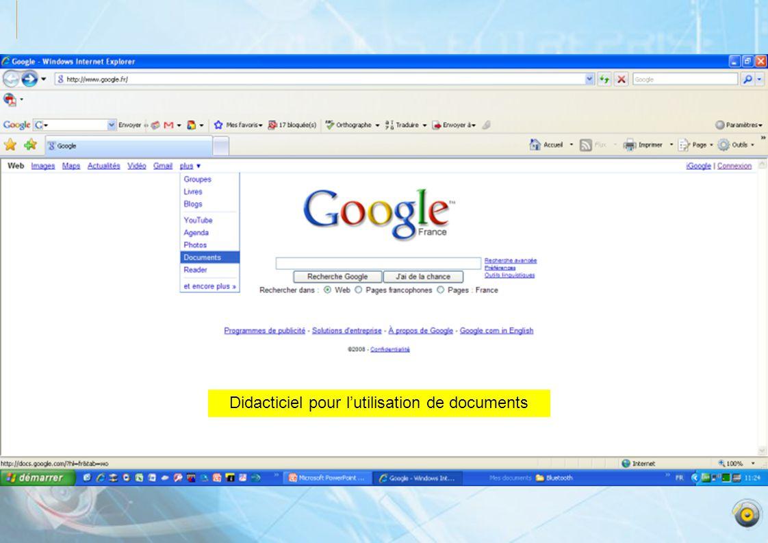 Didacticiel pour lutilisation de documents