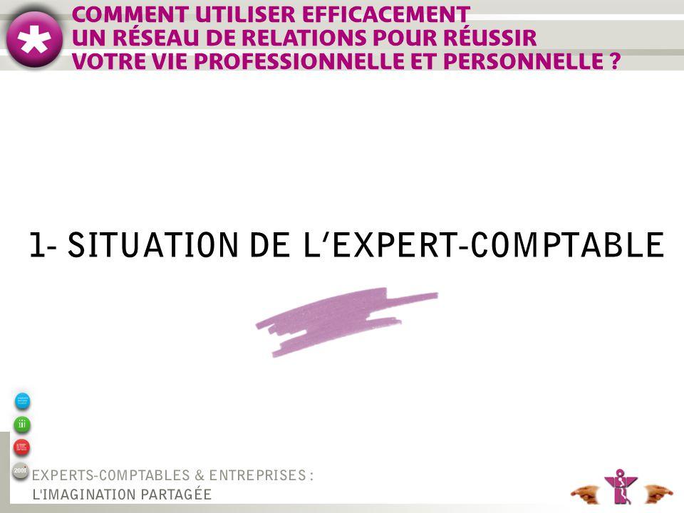 1- SITUATION DE LEXPERT-COMPTABLE COMMENT UTILISER EFFICACEMENT UN RÉSEAU DE RELATIONS POUR RÉUSSIR VOTRE VIE PROFESSIONNELLE ET PERSONNELLE ?