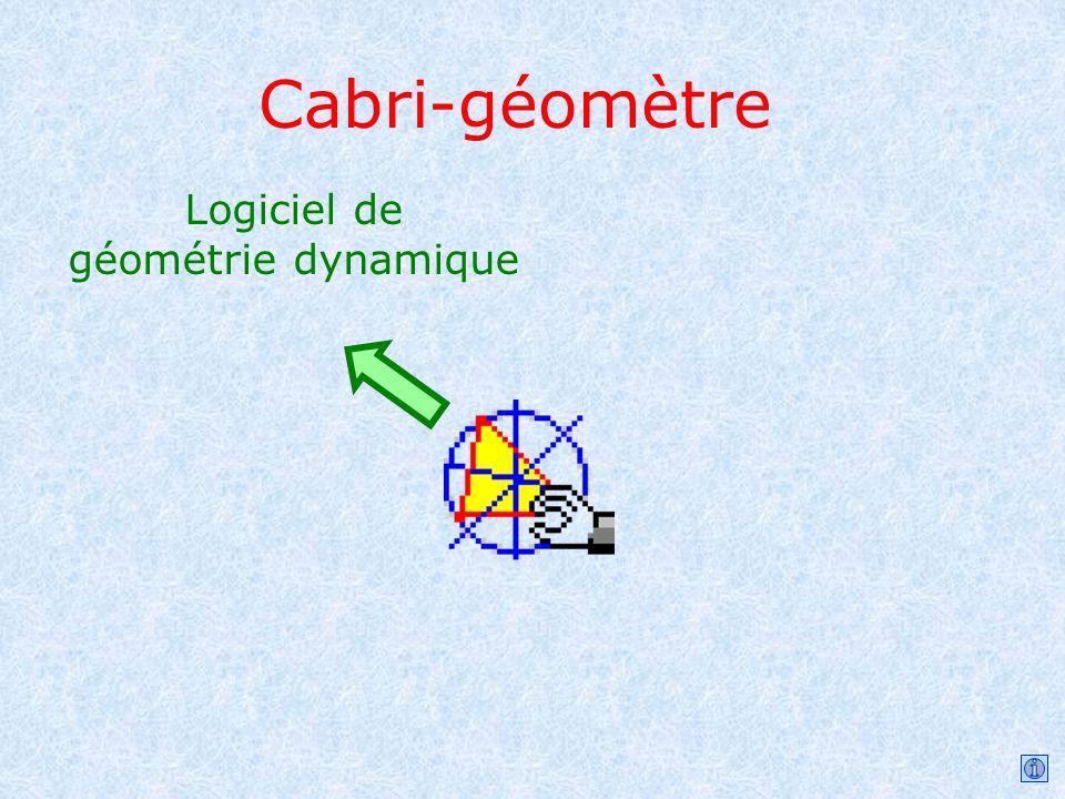 Logiciel de géométrie dynamique Cabri-géomètre