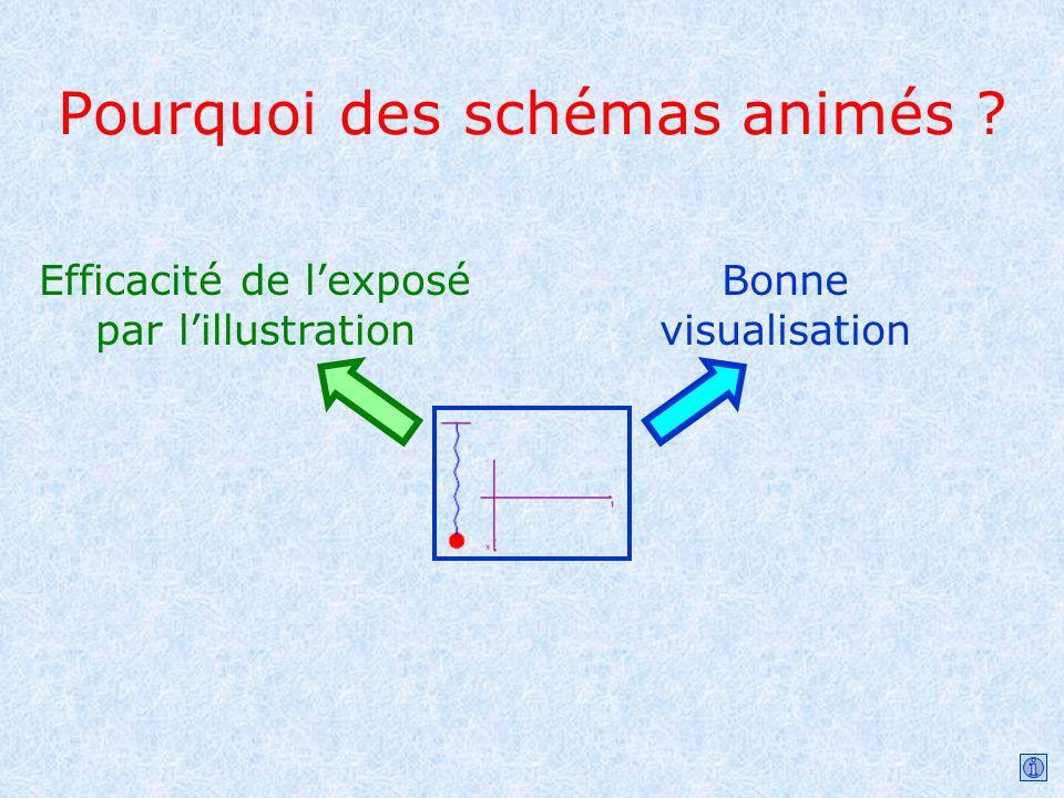 Pourquoi des schémas animés ? Efficacité de lexposé par lillustration Bonne visualisation