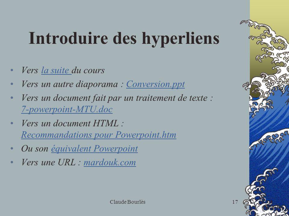 Claude Bourlès16 Diffusion d'un diaporama : Imprimer, comment ? Pourquoi en mode Plan ? Diaporama électronique Comment le diffuser sur le Web ?