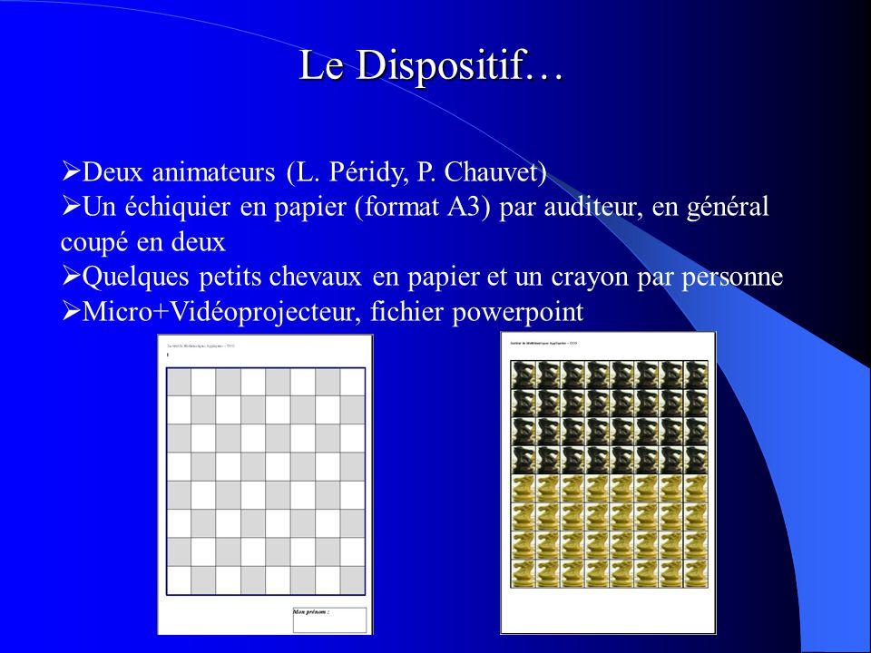 Le Dispositif… Deux animateurs (L.Péridy, P.