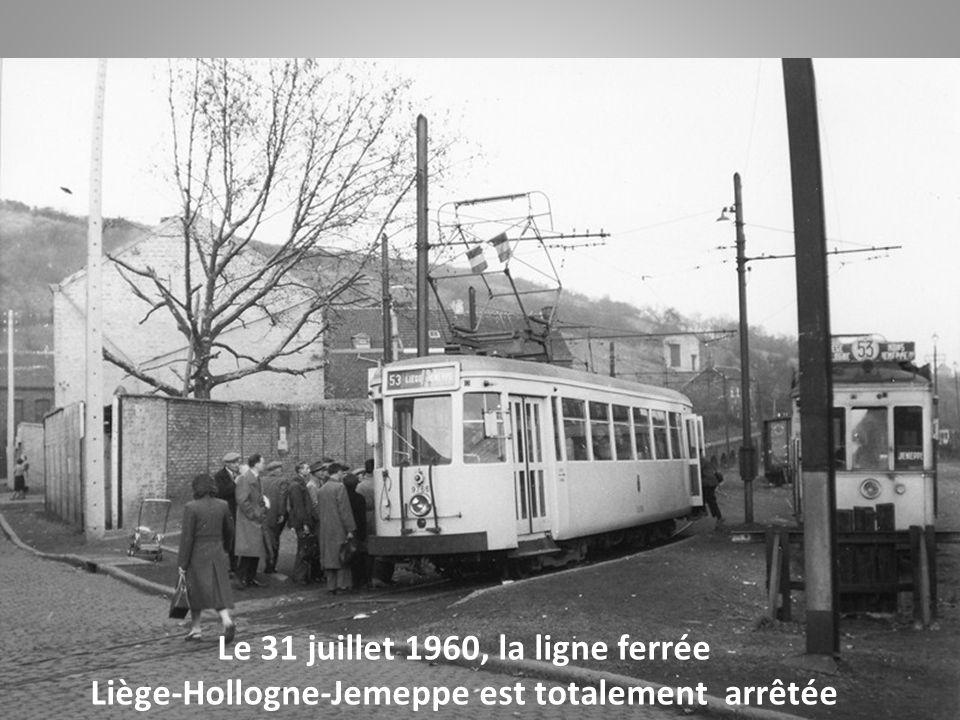 Le 31 juillet 1960, la ligne ferrée Liège-Hollogne-Jemeppe est totalement arrêtée