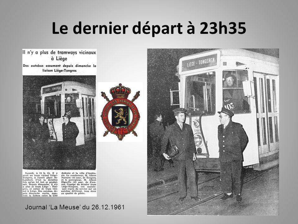Le dernier départ à 23h35 Journal La Meuse du 26.12.1961