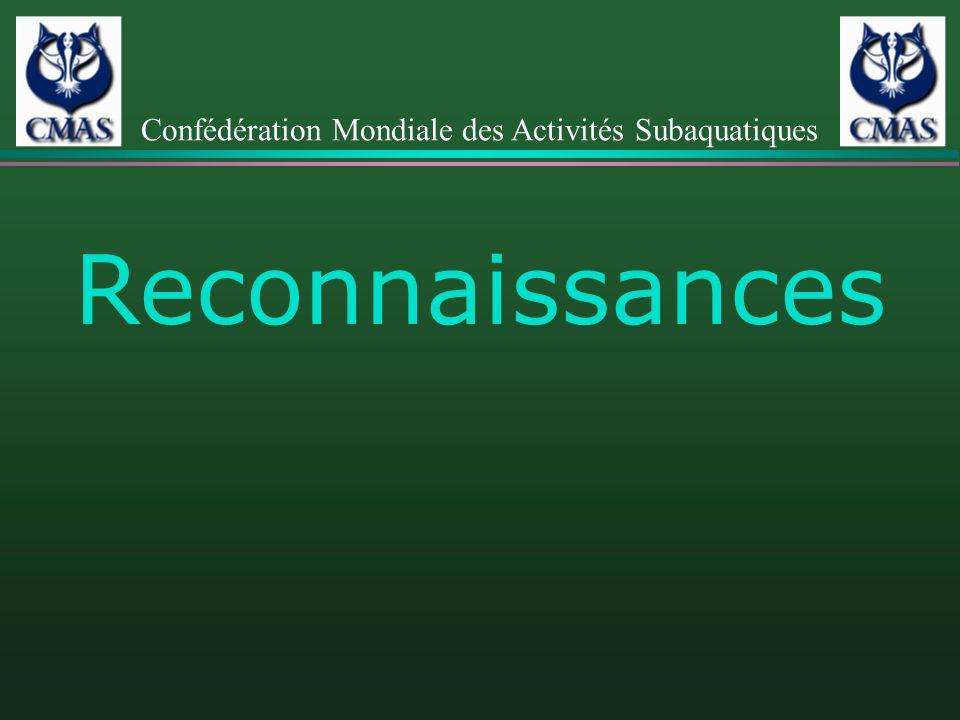 Reconnaissances Confédération Mondiale des Activités Subaquatiques
