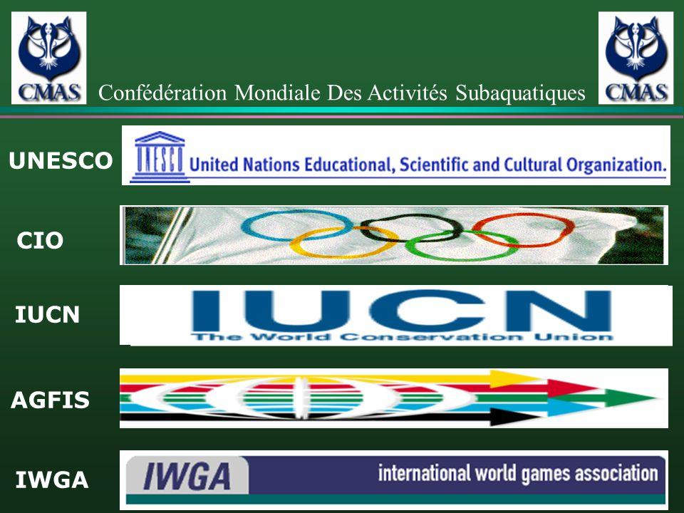 UNESCO CIO IUCN AGFIS IWGA Confédération Mondiale Des Activités Subaquatiques