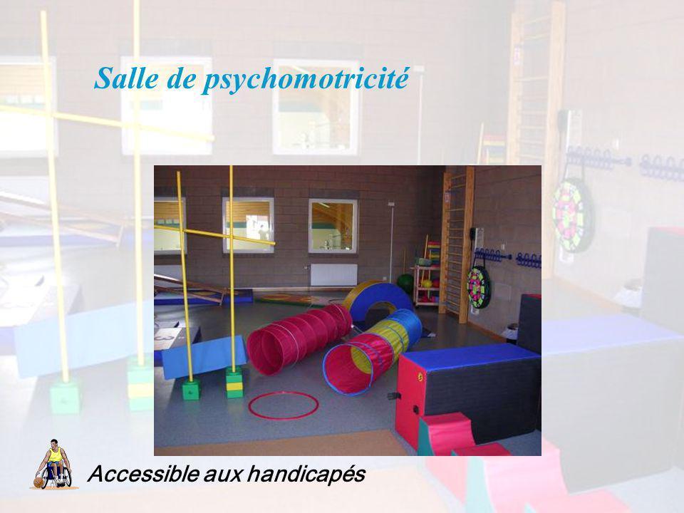 Salle de psychomotricité Accessible aux handicapés