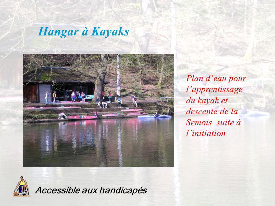 Hangar à Kayaks Accessible aux handicapés Plan deau pour lapprentissage du kayak et descente de la Semois suite à linitiation