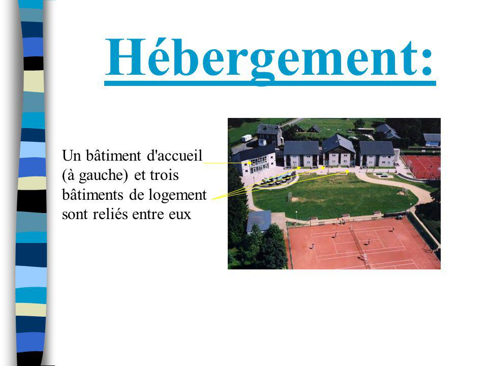 Hébergement: Un bâtiment d'accueil (à gauche) et trois bâtiments de logement sont reliés entre eux