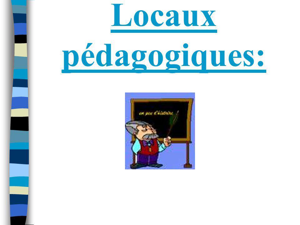 Locaux pédagogiques: