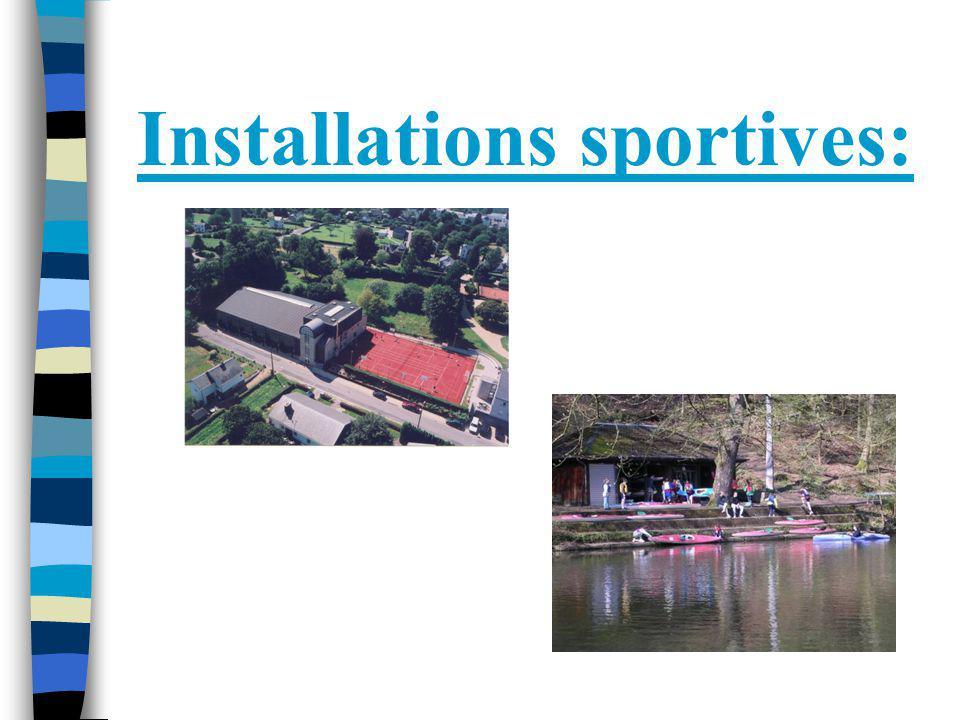 Installations sportives: