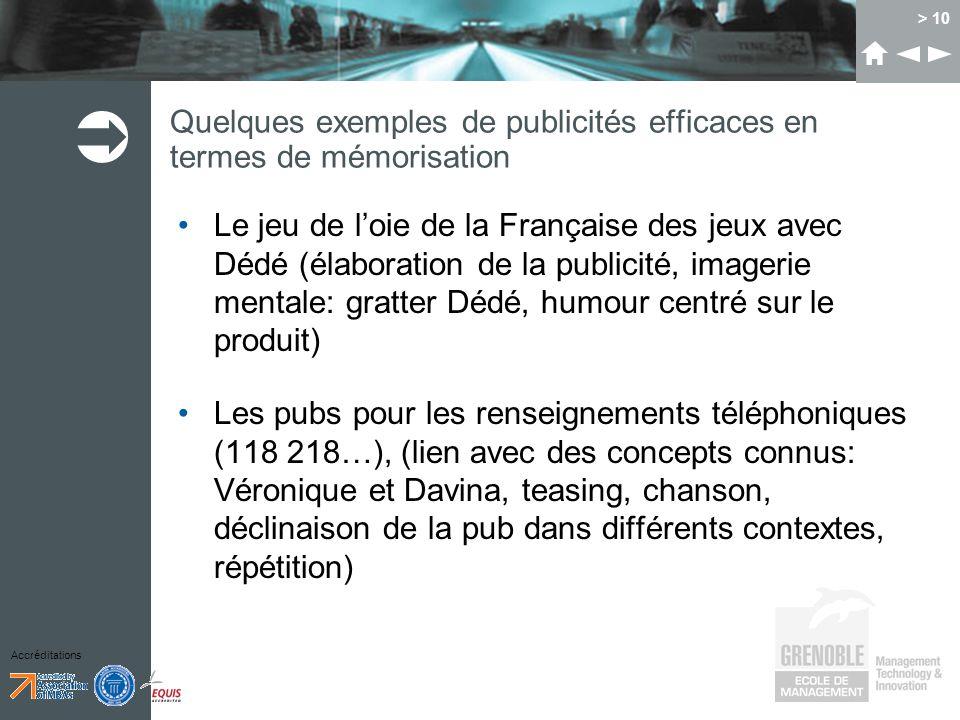 Accréditations > 10 Quelques exemples de publicités efficaces en termes de mémorisation Le jeu de loie de la Française des jeux avec Dédé (élaboration
