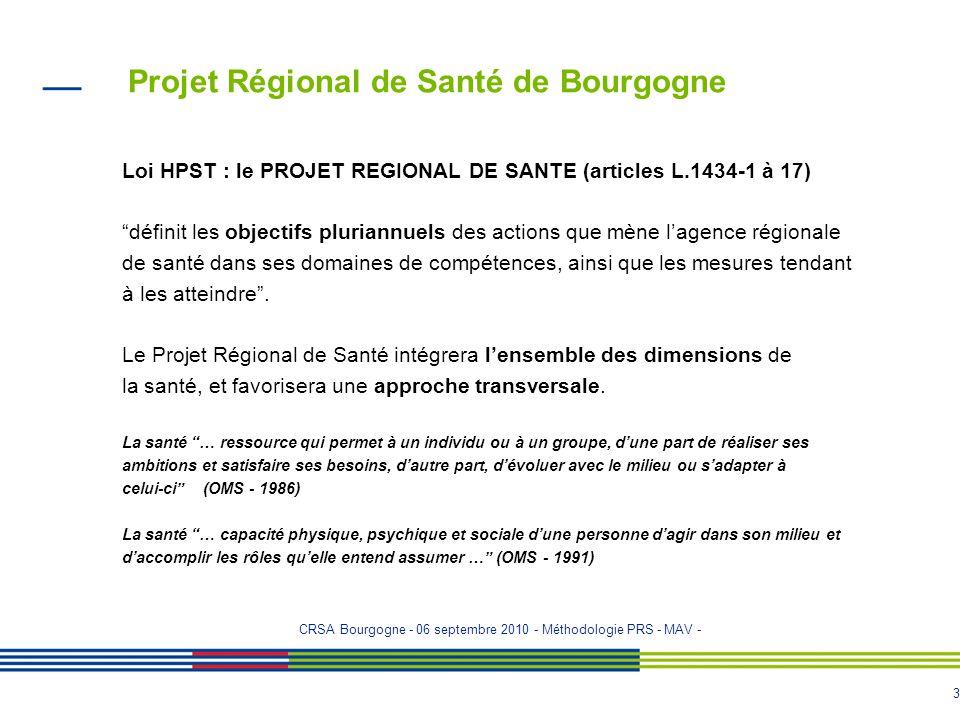 2 Projet Régional de Santé de Bourgogne Loi n° 2009-879 du 21 juillet 2009 portant réforme de lhospitalisation et relative aux patients, à la santé et