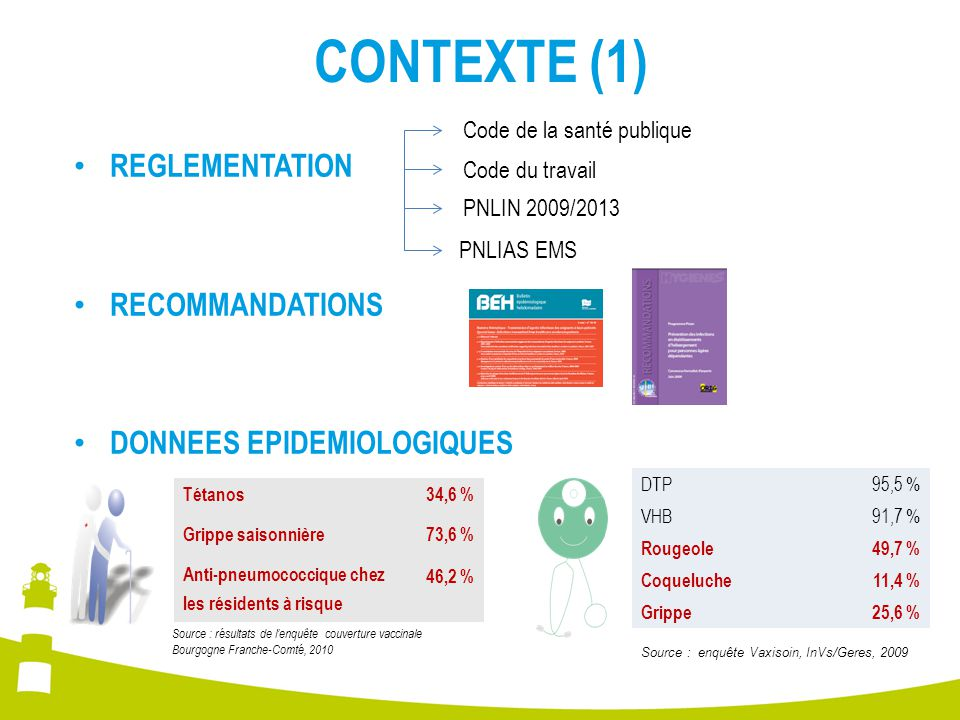 CONTEXTE (2) AU FINAL : malgré la forte incitation nationale, la couverture vaccinale demeure perfectible.