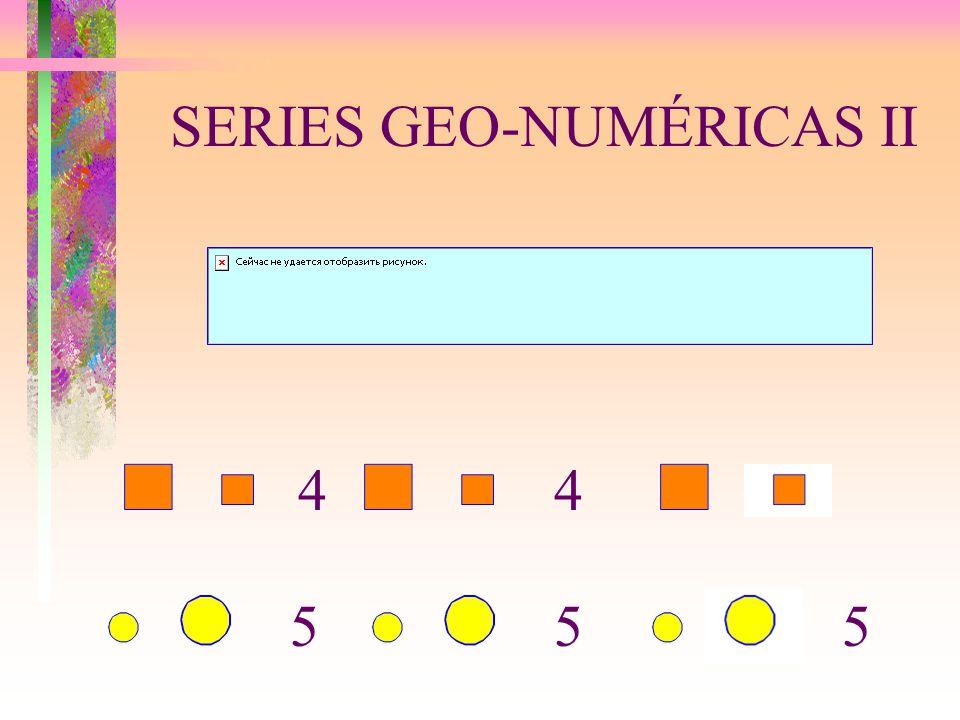 SERIES GEO-NUMÉRICAS II 5 44 55