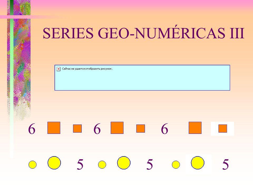 SERIES GEO-NUMÉRICAS III 5 66 55 6