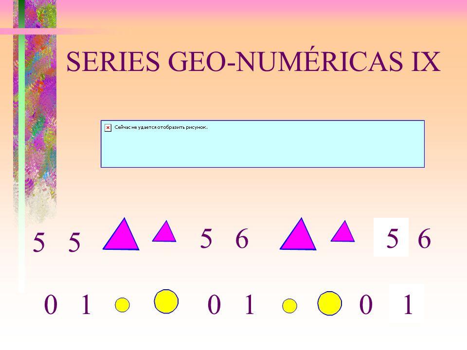 SERIES GEO-NUMÉRICAS IX 5 6 5 0 1 5 10 10 6