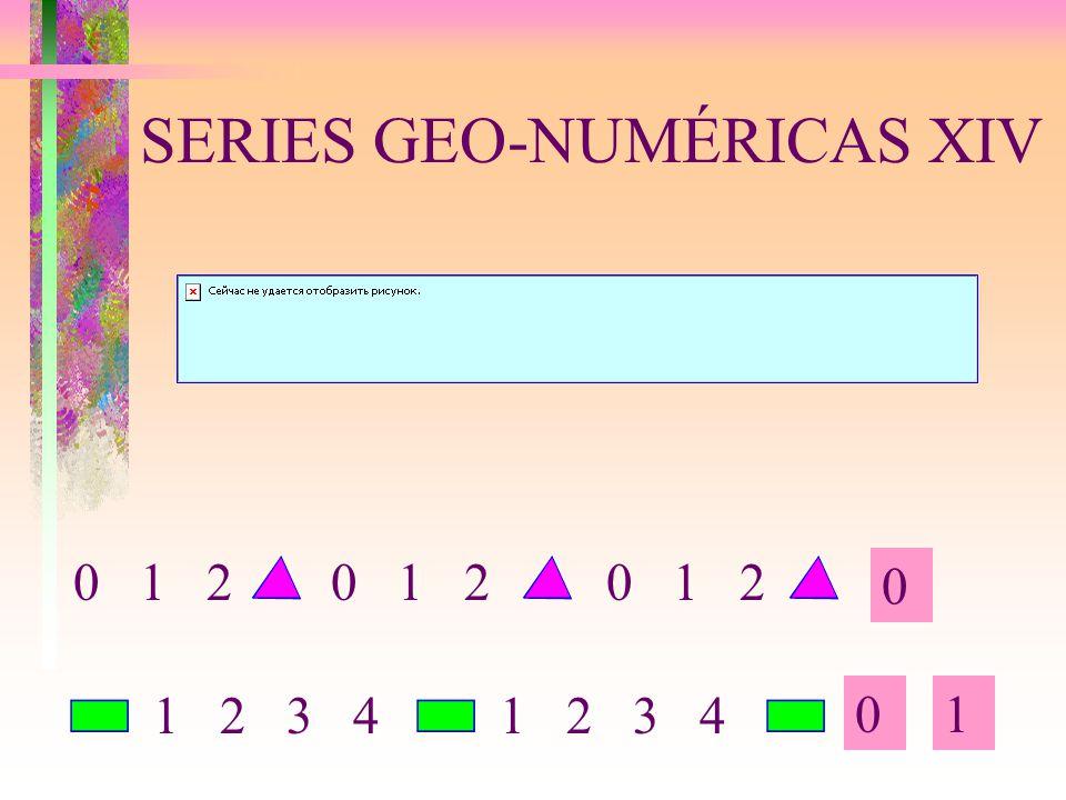 SERIES GEO-NUMÉRICAS XIV 0 01 0 1 2 1 2 3 4 0 1 2 1 2 3 4 0 1 2