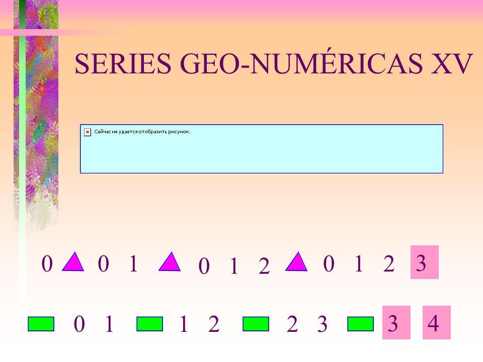 SERIES GEO-NUMÉRICAS XV 3 34 0 100 1 2 0 11 22 3