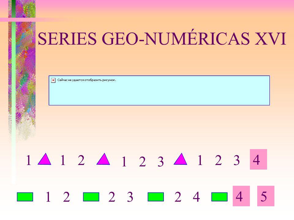 SERIES GEO-NUMÉRICAS XVI 4 45 1 211 2 3 1 22 32 4