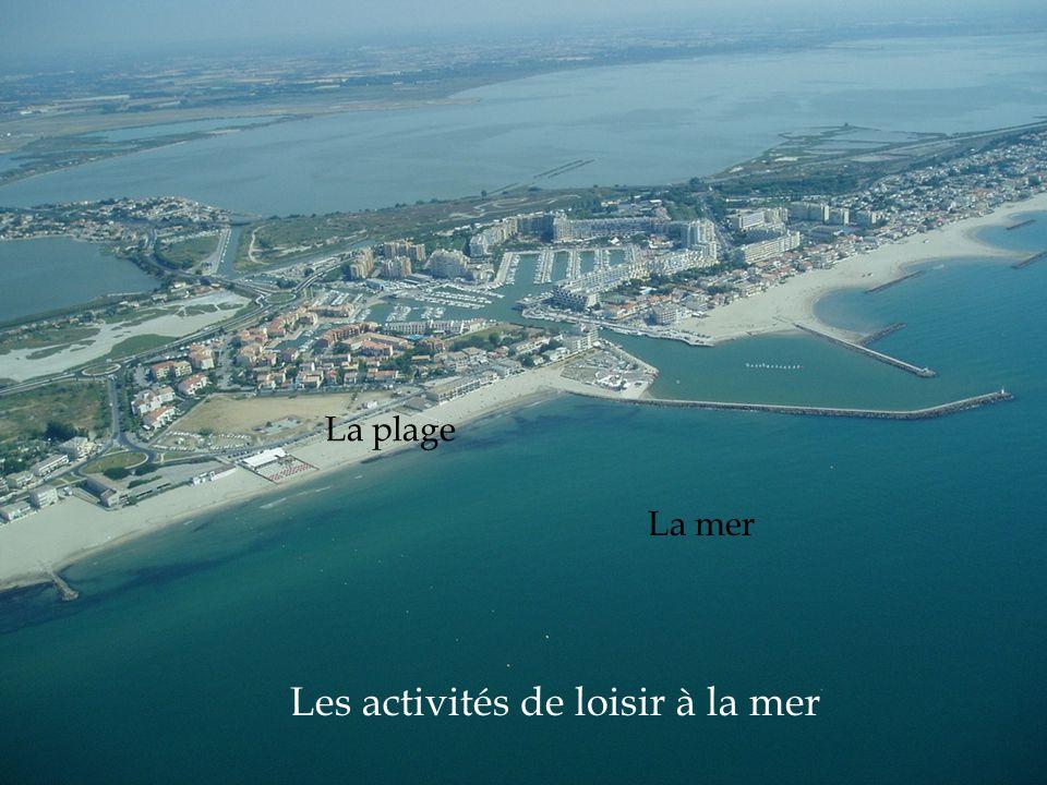 Les activités de loisir à la mer La mer La plage