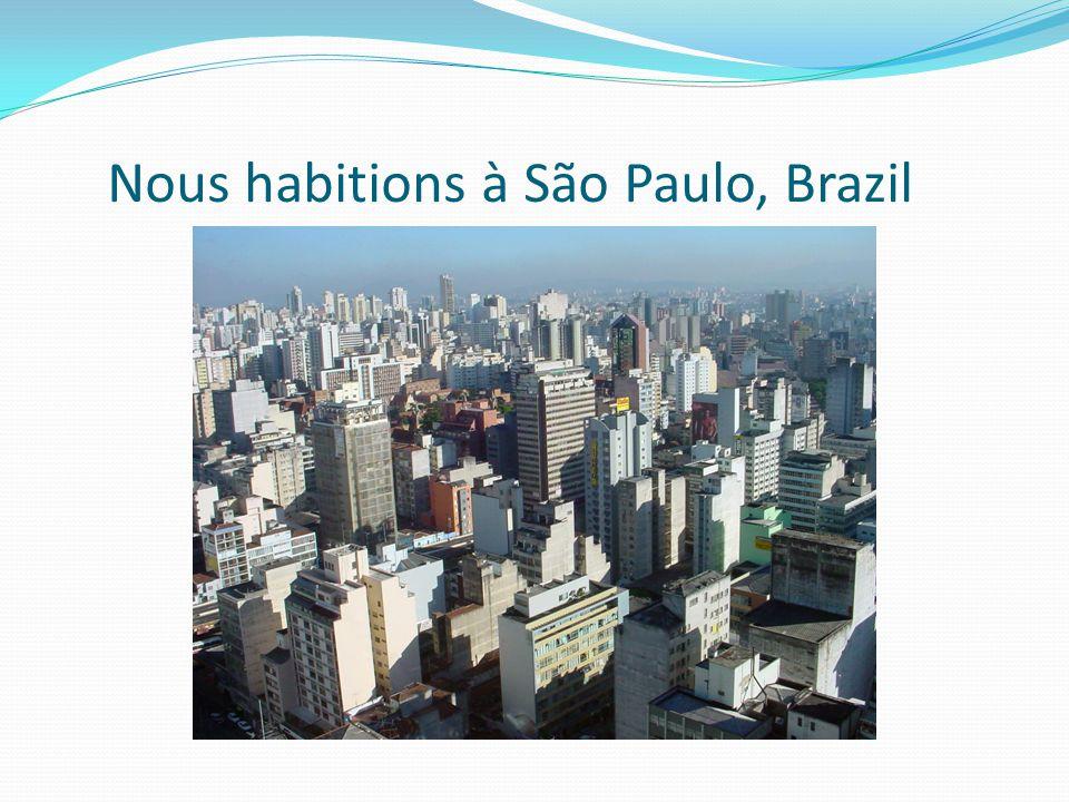 Nous habitions à São Paulo, Brazil